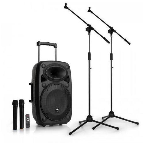 streetstar 12 mobilny zestaw nagłośnieniowy pa z dwoma mikrofonami i stojak marki Auna