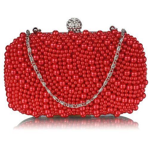 940b960f849d1 Wielka brytania Torebka wizytowa z czerwonych koralików - czerwony 138