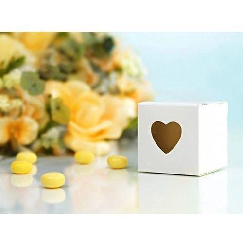 Pudełeczka dla gości z sercem białe - 10 szt. (5901157437167)