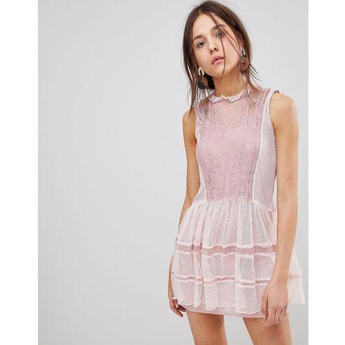 Glamorous Mesh Dress - Pink, kolor zielony