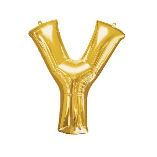 Balon foliowy złota litera y - 76 x 86 cm - 1 szt. marki Amscan