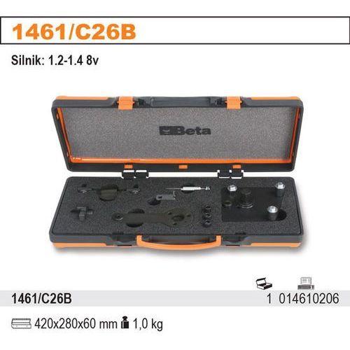 Zestaw narzędzi do blokowania i ustawiania układu rozrządu w silnikach benzynowych fiat-alfa-lancia 1.2-1.4 8v, model 1461/c26b wyprodukowany przez Beta