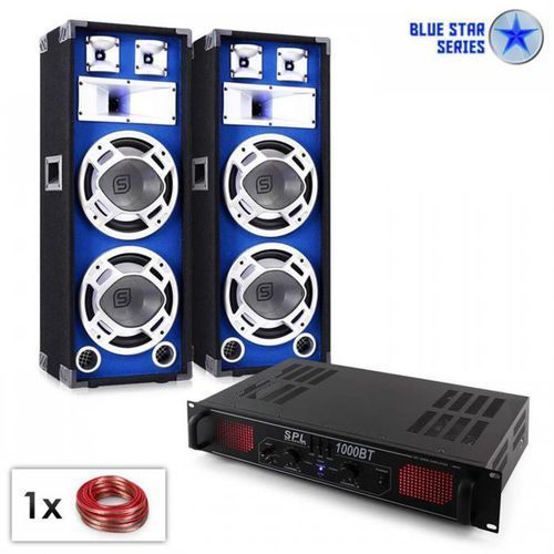 """Electronic-star blue star series """"basssound bluetooth"""" zestaw nagłośnieniowy 1000 w (4260395872880)"""