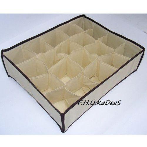 Organizer do szuflady na bieliznę z 20 przegródkami Kremowy (pudło na ubranie)