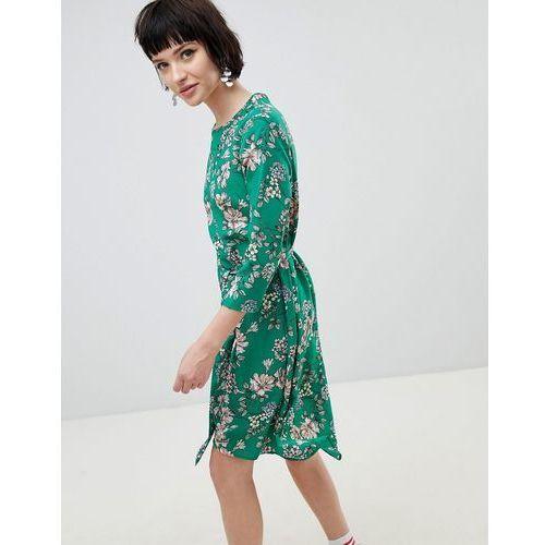 New look floral midi dress - green