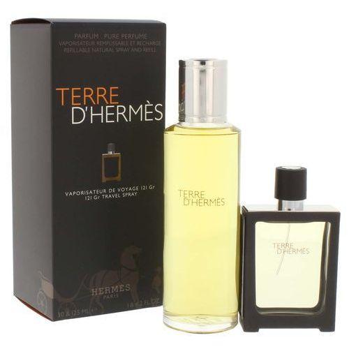 Hermes terre d hermes parfum m zestaw perfum 30ml z możliwością napełnienia + 125ml perfumy ? wkład