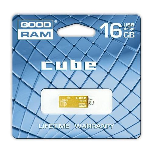 Produkt PENDRIVE GOODRAM CUBE 16GB GOLD RETAIL9
