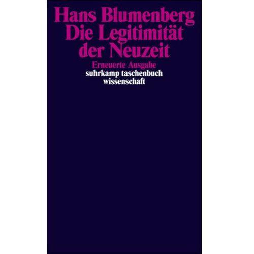 Die Legitimität der Neuzeit (9783518288689)