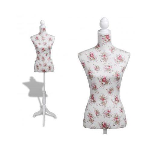 Manekin kobiecy, korpus, bawełniany z różanym wzorem - produkt dostępny w VidaXL