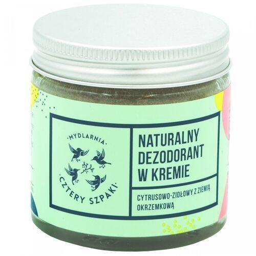 4szpaki Naturalny dezodorant w kremie cytrusowo-ziołowy, 60ml cztery szpaki