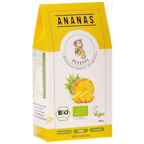 Puffins ananas suszony bez cukru 40g microfood eko