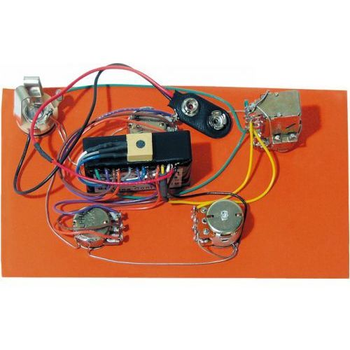 hr-4.5ap/918 - pre-wired active/passive preamp, 2-band eq marki Bartolini