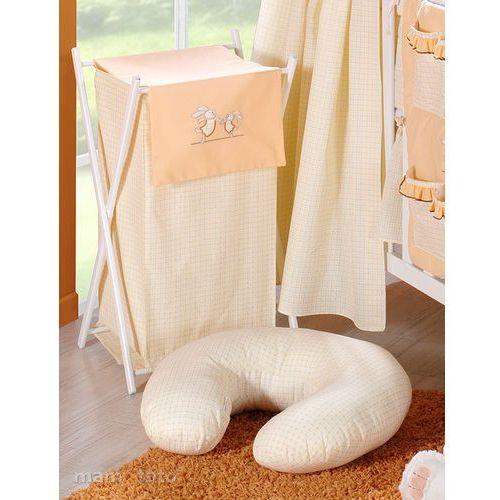 kosz na bieliznę wesołe zajączki brzoskwiniowe marki Mamo-tato