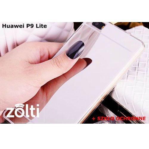 Zestaw | Slim Mirror Case Srebrny + Szkło ochronne Perfect Glass | Etui dla Huawei P9 Lite, kolor szary