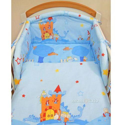 MAMO-TATO pościel 3-el Zamek błękitny do łóżeczka 70x140cm