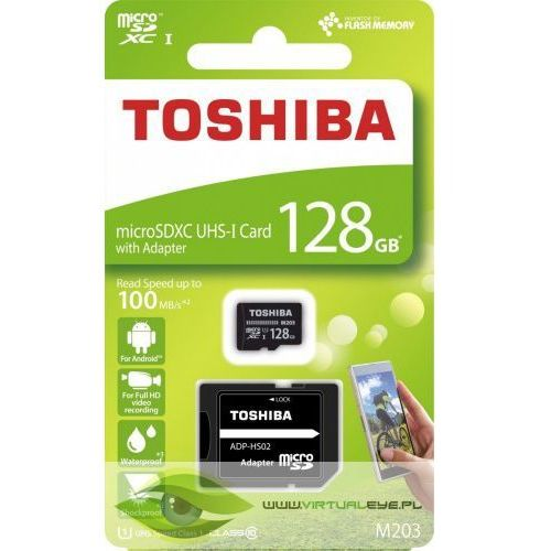 Toshiba Karta pamięci z adapterem microsdxc 128gb class 10 thn-m203k1280ea