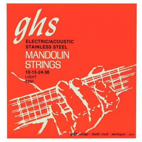 Ghs professional struny do mandoliny, loop end, stainless steel, light,.010-.036