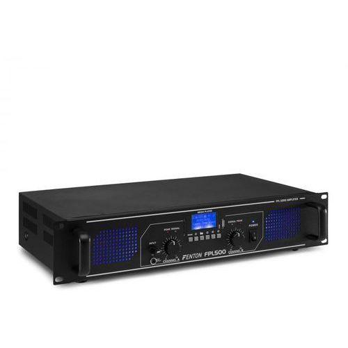 Fenton FPL500 Wzmacniacz cyfrowy 2 x 250 W Bluetooth odtwarzacz multimedialny port USB slot SD
