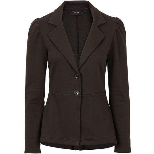 Żakiet shirtowy z baskinką  czarny, marynarka, żakiet bonprix