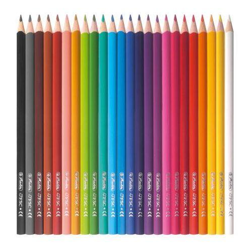 Kredki ołówkowe 24 kolorów trójkątne lakierowane (4008110194103)