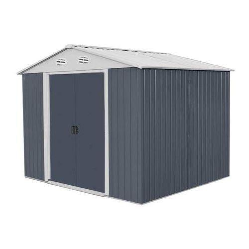 Hecht czechy Hecht 8x8 plus domek ogrodowy na narzędzia ciemnoszary wiata meble ogrodowe - ewimax oficjalny dystrybutor - autoryzowany dealer hecht