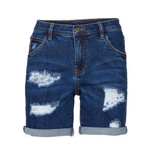 bf7f123b6 Szorty dżinsowe bonprix niebieski