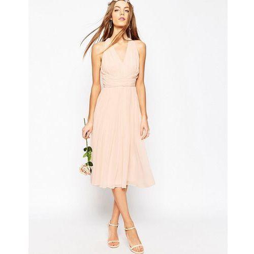 wedding hollywood midi dress - pink marki Asos