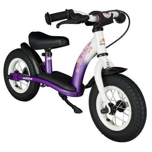 """Bikestar Rowerek biegowy 10"""" niski od 2 lat germany classic, kolor liliowo-biały (4260184710980)"""