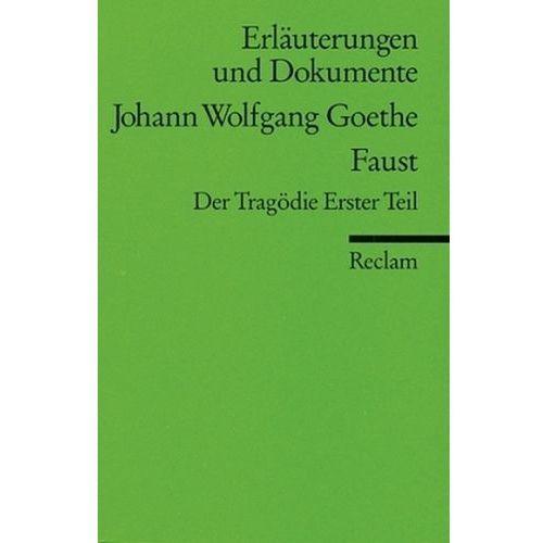 Johann Wolfgang Goethe 'Faust', Der Tragödie Erster Teil (9783150160213)