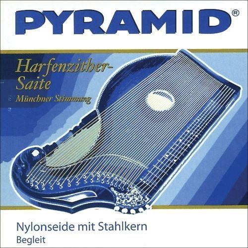 Pyramid (663613) struny do cytry, nylonowa ze stalowym rdzeniem / cytra o rezonansie harfowym/powietrznym - komplet