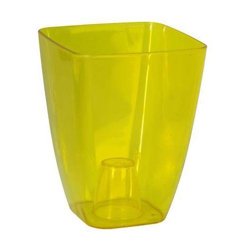 Osłonka plastikowa 13 x 13 cm żółta storczyk marki Form-plastic