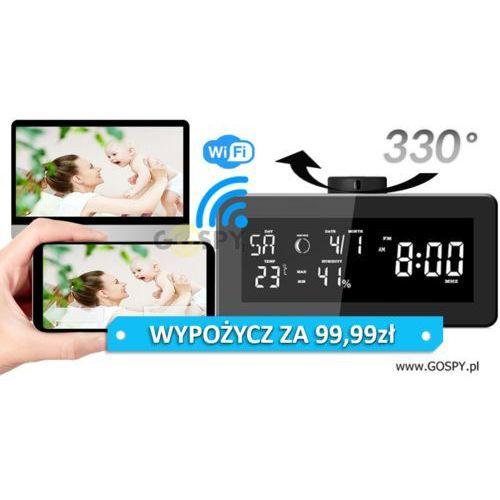 Zegar radio budzik szpiegowski wifi obrotowy obiektyw IP80