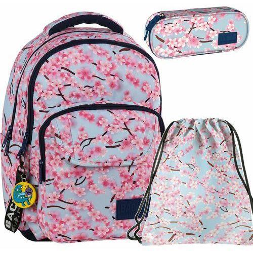 Backup lekki plecak szkolny młodzieżowy kwiaty marki Derform