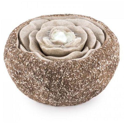 Blumfeldt rosewater fontanna ogrodowa led 36x19 cm pompa optyka kamienia naturalnego (4260457481340)