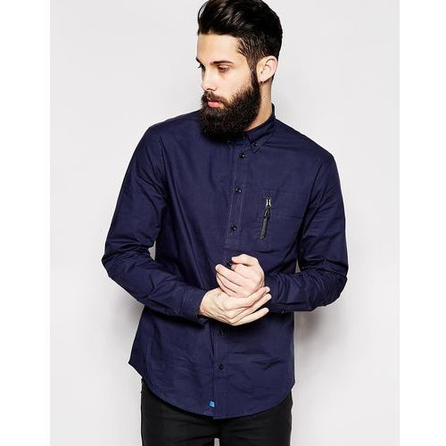 2xH Brothers Shirt With Zip Pocket - Blue, produkt marki 2 x H Brothers