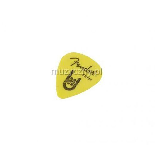 Fender 351 shape rock on 0.73 yellow kostka gitarowa