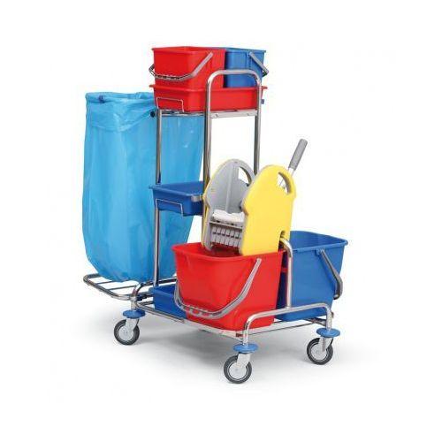 B2b partner Profesjonalny dwuwiadrowy wózek do sprzątania