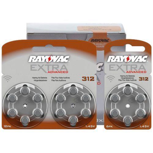 Rayovac 60 x baterie do aparatów słuchowych extra advanced 312 mf