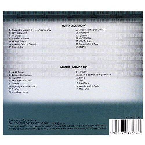 Universal music Klasyka polskiego hip-hopu: homex & egotrue (cd) - homex, egotrue (5908279351463)