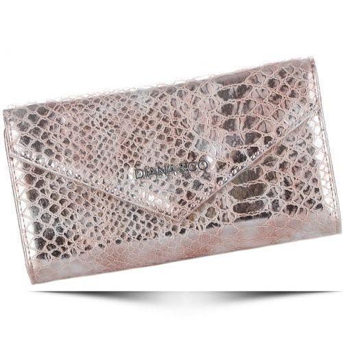 Diana&co Eleganckie portfele damskie firenze wzór węża złoty (kolory)