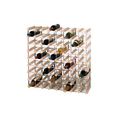 Drewniany stojak na wino   72 butelki   810x230x(h)230mm marki Xxlselect