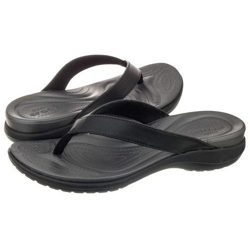 Japonki Crocs Capri V Flip W Black/Graphite 202502-02S (CR118-a), kolor czarny