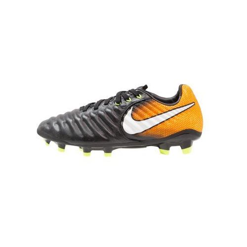 Nike Performance TIEMPO LEGEND VII FG Korki Lanki black/white/laser orange/volt (0885259306468)