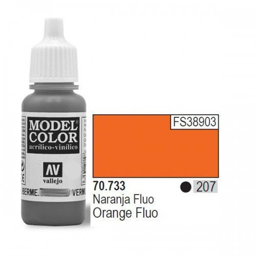 Vallejo Farba akrylowa fluorescent - orange nr 70733 (207) / 17ml 70733 (8429551707336)