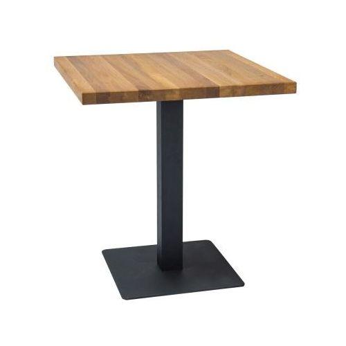 Kwadratowy stół z litego drewna dębowego puro marki Signal