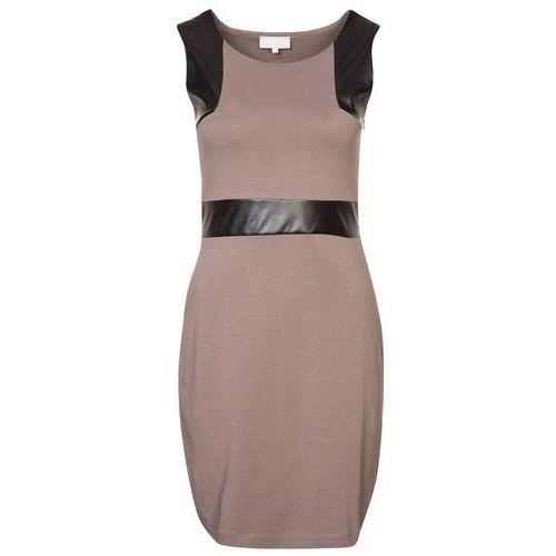 Zalando Collection PAMELA Sukienka z d�erseju br�zowy