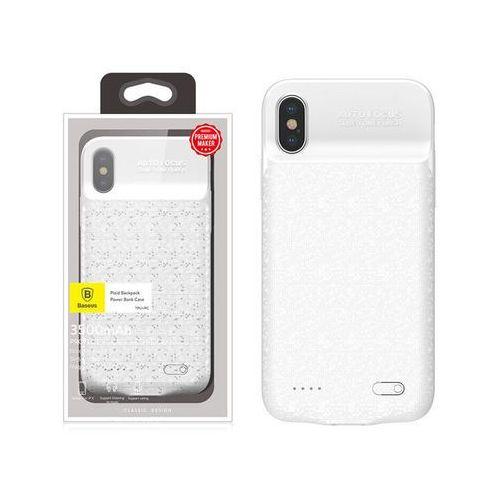 etui z baterią 3500mah apple iphone x xs power bank - biały marki Baseus