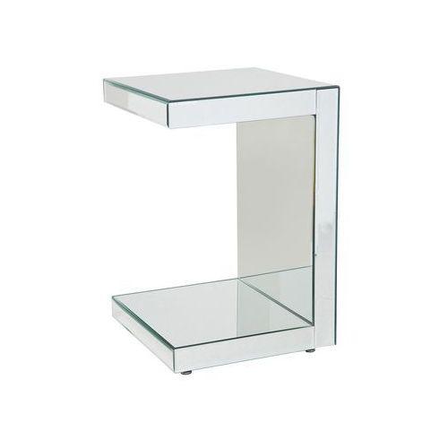 White Diva Mirror Stolik Szklany 40x40 cm (75685), Kare Design z sfmeble.pl