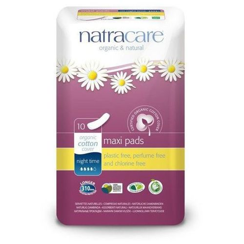 Podpaski na noc klasyczne maxi 10 sztuk marki Natracare