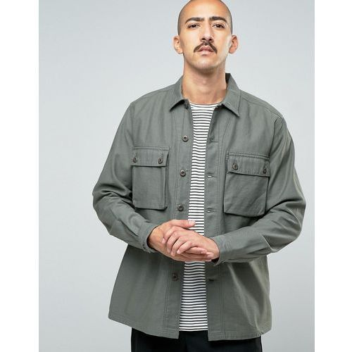 Asos  overshirt with 2 pockets in khaki - green
